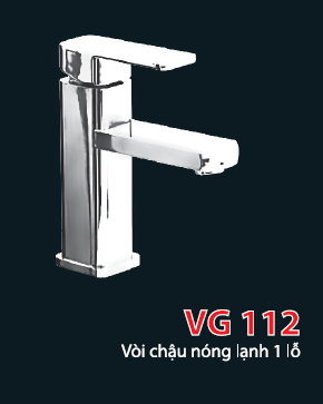 Vòi chậu nóng lạnh 1 lỗ VG112